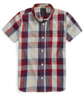 RVCA Boy's Plaid Woven Shirt