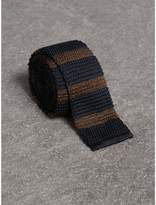 Burberry Slim Cut Two-tone Knitted Silk Tie