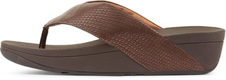 FitFlop Swoop Shimmysnake Toe-Post Sandals