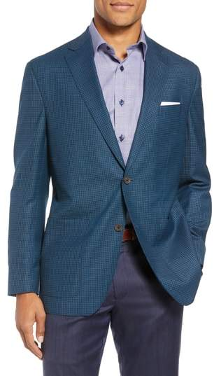 David Donahue Aiden Classic Fit Check Wool Sport Coat
