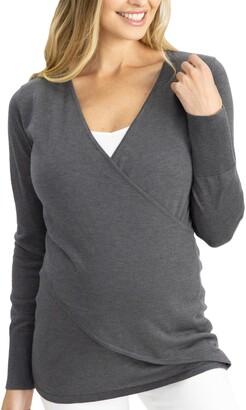 Angel Maternity Crossover Maternity/Nursing Sweater