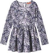Joe Fresh Kid Girls' Floral Print Dress, Grey Mix (Size XL)