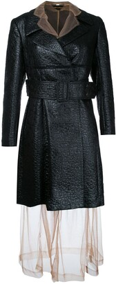 Comme Des Garçons Pre Owned Sheer Under Layer Coat Dress
