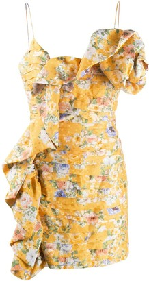 Magda Butrym Floral Print Ruffled Mini Dress