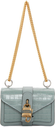 Chloé Blue Croc Aby Chain Bag