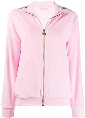 Chiara Ferragni Logo Tape Zipped Sweatshirt