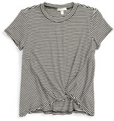 Girl's Love On Tap Knotted Stripe Tee