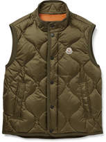 Moncler Canut Quilted Shell Down Gilet - Green