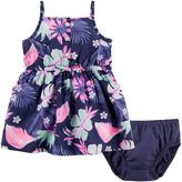 Carter's Baby Girl Henley Dress & Bloomers Set