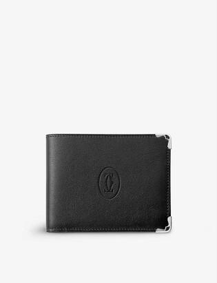 Cartier Must de six-credit card calfskin wallet