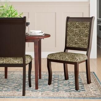 Hokku Designs Nikolas Upholstered Side Chair in Green/Gray
