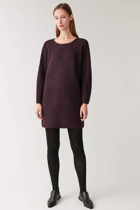 Cos KNITTED BOILED WOOL DRESS