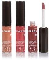 Korres Cherry Oil Lip Gloss Trio - Natural Purple, Rose and Beige Pink