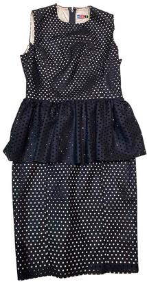 MSGM Black Wool Dresses