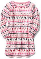 Bright stripe nightgown