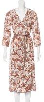 Marc Jacobs Floral Print Wrap Dress