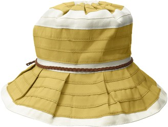 San Diego Hat Company Women's 4-inch Sun Brim Hat with Ivory Stripes and Faux Sueded Braided Trim