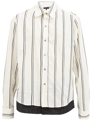 Ann Demeulemeester Striped Cotton-blend Poplin Shirt - 122-005