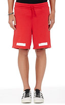 Off-White Men's Graphic Cotton French-Terry Shorts-RED