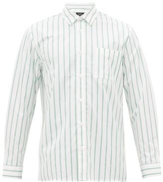 A.P.C. Rami Striped Cotton Shirt - Mens - Green