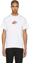 Noah White Embroidered Paisley Logo T-shirt