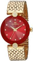Oniss Paris Women's Quartz Stainless Steel Dress Watch, Color:Gold-Toned (Model: ON8777-LG/RD)