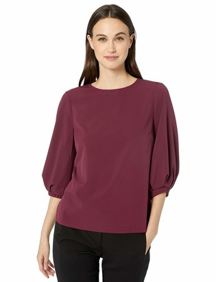 Lark & Ro Stretch Twill Full 3/4 Sleeve Top Shirt