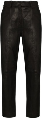 Balmain High-Waist Straight-Leg Trousers