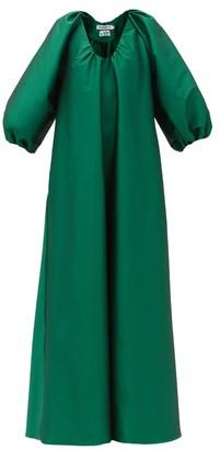 BERNADETTE George Balloon-sleeve Taffeta Dress - Green