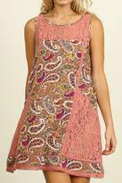 Umgee USA Paisley Print Dress