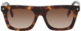 Burberry Tortoiseshell Rectangular Frame Sunglasses