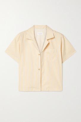 STILL HERE Havana Striped Cotton-poplin Shirt - Mustard