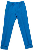 Calvin Klein Collection Wool Flat Front Trousers