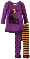 Bonnie Baby Baby-Girls Infant Cat Applique Legging Set