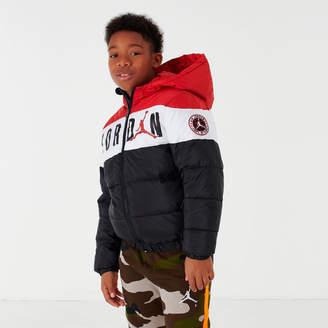 Nike Boys' Jordan Colorblocked Puffer Jacket