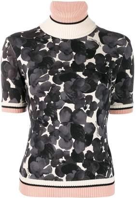 Elisabetta Franchi floral-print short sleeve jumper