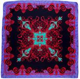 Versace Barocco Print Silk Scarf
