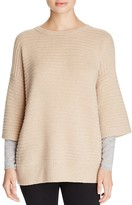 Magaschoni Ribbed Cashmere Layered Effect Sweater