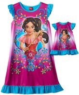 Disney Disney's Elena of Avalor Girls 4-8 Dorm Nightgown & Doll Gown Set