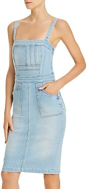 Mother Pocket Hustler Denim Overall Dress