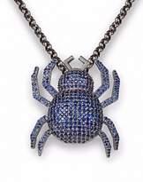 Jane Berg Charlotte black rhodium-plated 14kt white gold pendant with blue sapphires