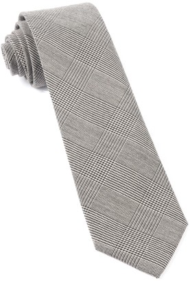 Tie Bar Cotton Glen Plaid Black Tie