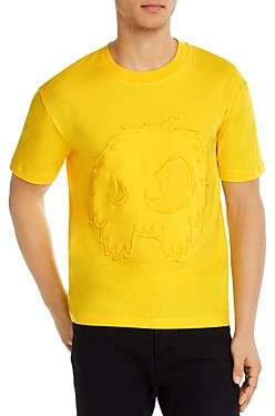 McQ Chester Cotton Frayed Applique Graphic Tee