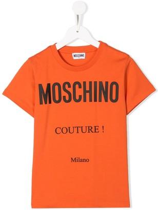 MOSCHINO BAMBINO Couture! print crew neck T-shirt