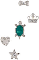 Betsey Johnson Crown Assorted Stud Earrings Set