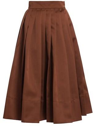 Plan C Knife Pleated A-Line Skirt