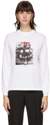 Kwaidan Editions White Zola Bouquet Long Sleeve T-Shirt