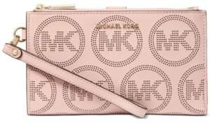 Michael Kors Michael Double Zip Leather Wristlet