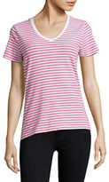 Lord & Taylor Petite Striped Scoop neck T-Shirt