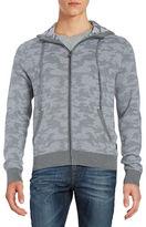 Michael Kors Camo Zip Up Sweater